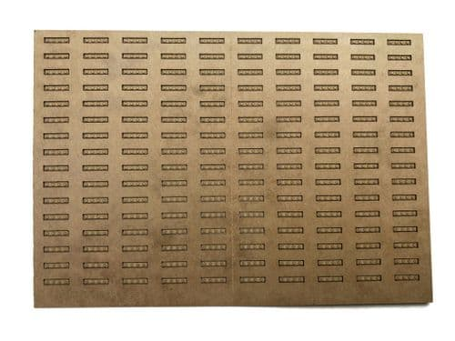 LX388-OO Laser Engraved Cosmetic Fishplates For Detailing Rails - OO/4mm/1:76