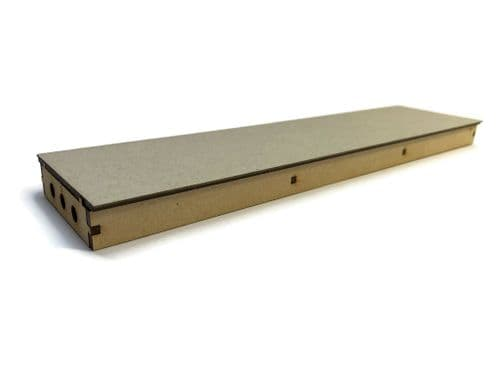 LX402-OO Long Straight Island Platform (280mm x 70mm) (Pack of 2) - OO/4mm/1:76