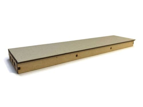 LX403-OO Single Sided Long Straight Platform (280mm x 66mm) (Pack of 2) - OO/4mm/1:76