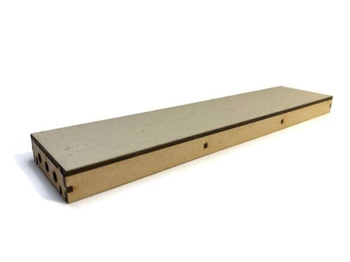 LX404-OO Flush Sided Long Straight Platform (280mm x 62mm) (Pack of 2) - OO/4mm/1:76
