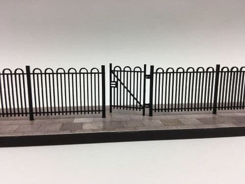 LX420-OO Laser Cut 4ft School/Park Hairpin Railings OO/4mm/1:76