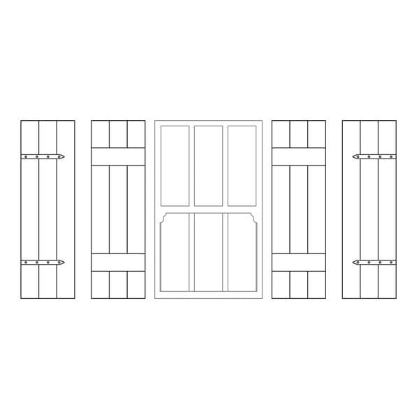 LX460-OO Shutters To Fit 12mm x 20mm Windows (Pack Of 12) -  OO/4mm/1:76