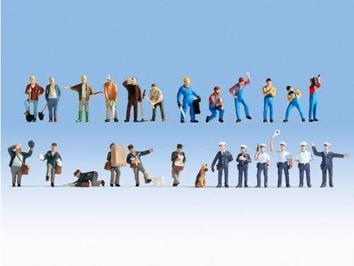Noch 16109 XL Figure Set At Work (Pack of 24) OO/HO