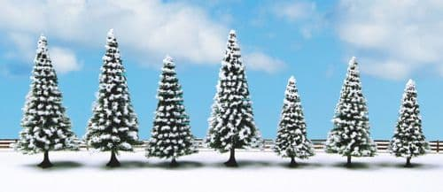 Noch 25087 Snow Fir (Pack Of 7) Classic Economy Trees 8-12CM