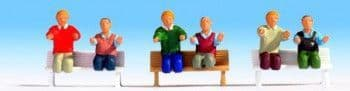 NOCH N15283  ELECTRIC LOCOMOTIVE DRIVERS (6) WITH NO LEGS FIGURE SET