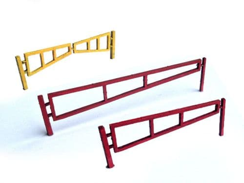 Reduced To Clear - LX025-OO Laser Cut Swing Arm Security Gates-OO/4mm/1:76