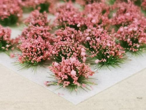 Scale Model Scenery HP001-OO Small Rose Pink Flower Tufts Handy Pack - OO/4mm/1:76
