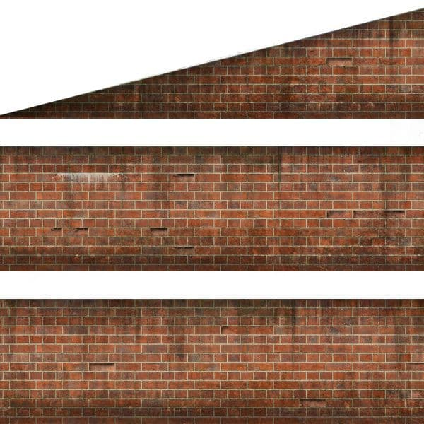 TX258-OO English Bond Weathered Red Brick Platform Wall Wraps (18mm to 20mm high) - OO/4mm/1:76