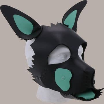 Green Patches Puppy Hood