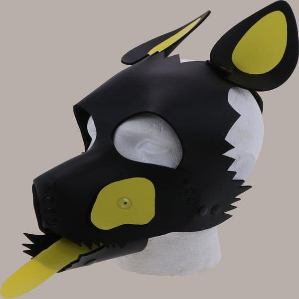 Yellow Patched Pup Hood