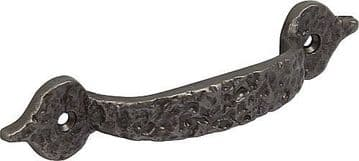 Cast iron bow handle for drawers and cabinet doors Antique pewter finish