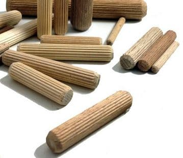 NEW  8mm dia by 30mm long hardwood beech dowels for construct & craft FREEPOST