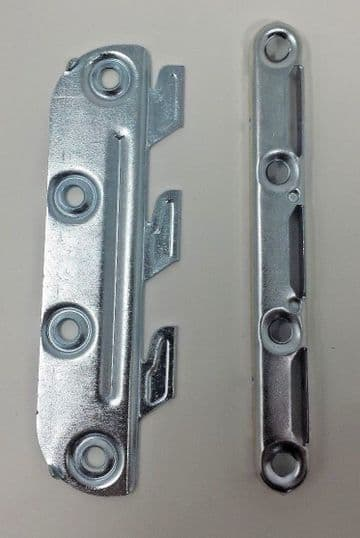 NEW Set of Bed fittings connectors brackets joiners replacement hook in, 130mm