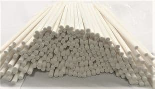 Extra Thick 6 mm White Synthetic Fibre Reeds (6mm x 200mm Long) Not Rattan