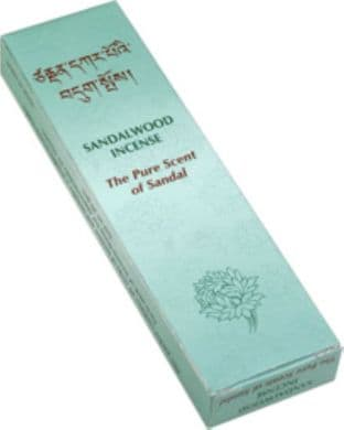 Gangchen | Tibetan Incense | Sandalwood | The Pure Scent of Sandal | 20 Sticks | Made in Nepal