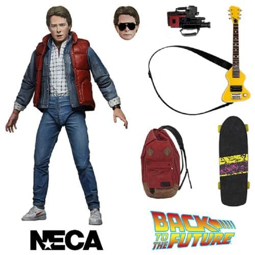 """(DAMAGED PACKAGING) BACK TO THE FUTURE ULTIMATE MARTY MCFLY 7"""" SCALE ACTION FIGURE FROM NECA"""