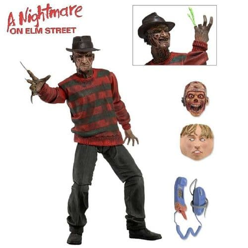 """(MINOR DAMAGE ON PACKAGING) A NIGHTMARE ON ELM STREET 7"""" ULTIMATE FREDDY ACTION FIGURE FROM NECA"""