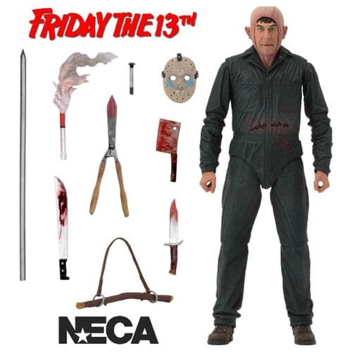 """(MINOR DAMAGE ON PACKAGING) FRIDAY THE 13TH PART 5 ULTIMATE ROY BURNS 7"""" ACTION FIGURE FROM NECA"""