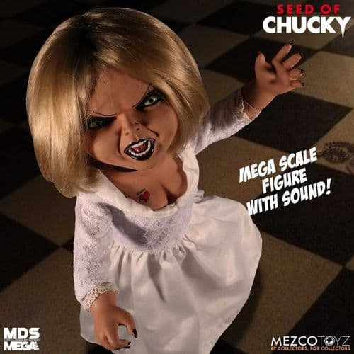 """(MINOR DAMAGE ON PACKAGING) SEED OF CHUCKY 15"""" MDS MEGA SCALE TALKING TIFFANY FROM MEZCO TOYZ"""