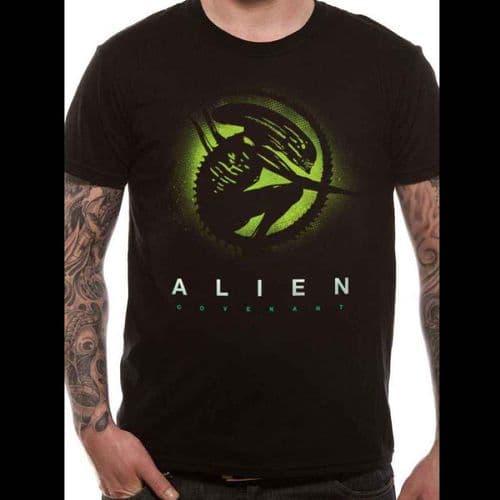ALIEN COVENANT - SILLOUETTE - UNISEX T-SHIRT - BLACK