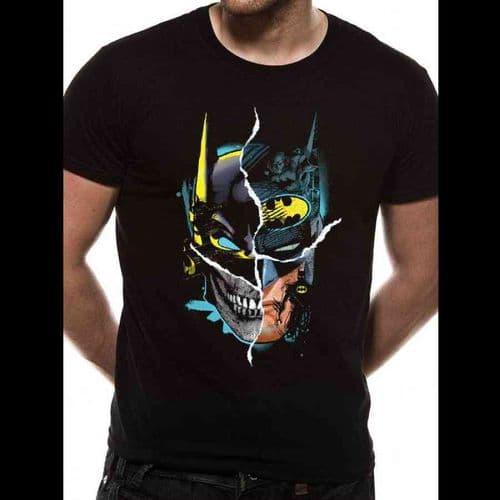 BATMAN - GOTHAM FACE - UNISEX T-SHIRT - BLACK