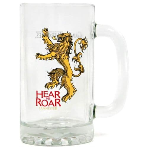 GAME OF THRONES  HEAR ME ROAR LANNISTER GLASS STEIN FROM SD TOYS