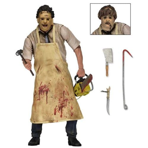 "TEXAS CHAINSAW MASSACRE 7"" ULTIMATE LEATHERFACE ACTION FIGURE FROM NECA"