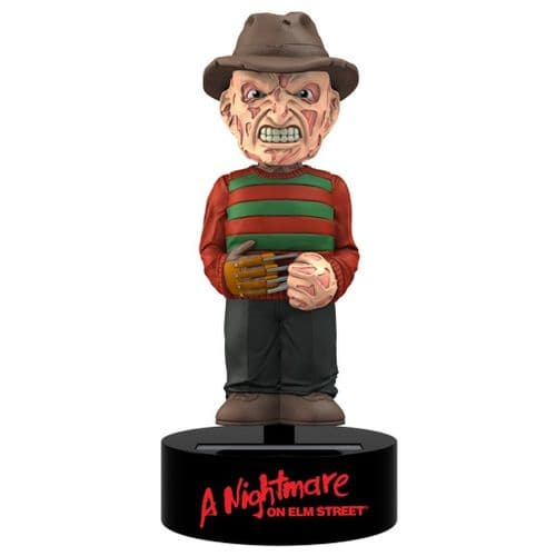 A NIGHTMARE ON ELM STREET FREDDY KRUEGER SOLAR POWERED BODY KNOCKER FROM NECA