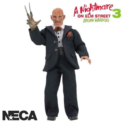 "A NIGHTMARE ON ELM STREET PART 3 DREAM WARRIORS 8"" CLOTHED TUXEDO FREDDY ACTION FIGURE FROM NECA"