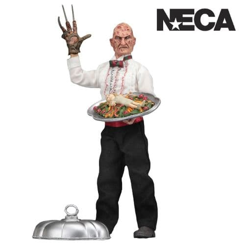 "A NIGHTMARE ON ELM STREET  PART 5 CHEF FREDDY 8"" CLOTHED ACTION FIGURE FROM NECA"