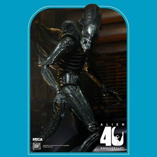 "ALIEN 40TH ANNIVERSARY WAVE 3 7"" SCALE XENOMORPH ACTION FIGURE FROM NECA"