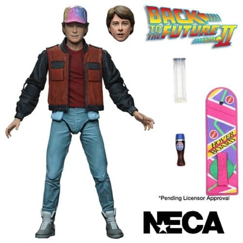"BACK TO THE FUTURE 2 ULTIMATE MARTY MCFLY 7"" SCALE ACTION FIGURE FROM NECA"