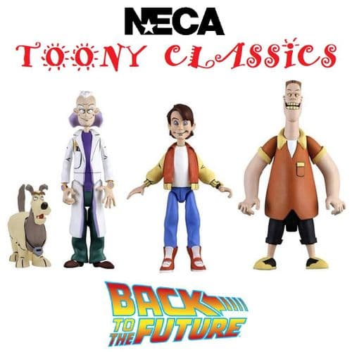"""BACK TO THE FUTURE TOONY CLASSICS 6"""" ACTION FIGURES FULL SET FROM NECA"""