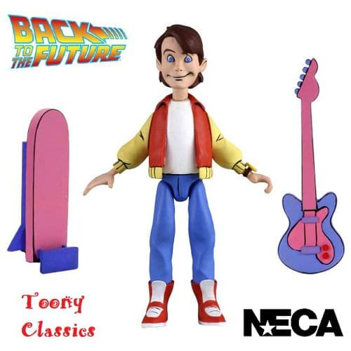 "BACK TO THE FUTURE TOONY CLASSICS 6"" MARTY MCFLY ACTION FIGURE FROM NECA"