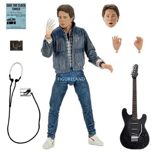 "BACK TO THE FUTURE ULTIMATE AUDITION MARTY MCFLY 7"" SCALE ACTION FIGURE FROM NECA"