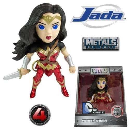 "BATMAN V SUPERMAN: DAWN OF JUSTICE 4"" WONDER WOMAN METALS DIE CAST FIGURE FROM JADA TOYS"