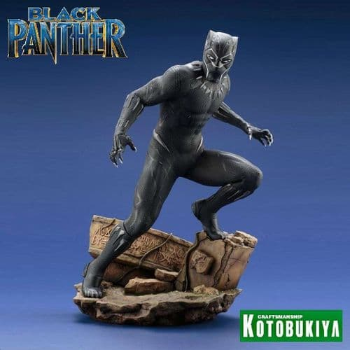 BLACK PANTHER MOVIE 1:6 SCALE BLACK PANTHER ARTFX STATUE FROM KOTOBUKIYA