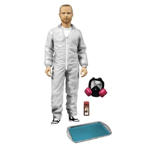"BREAKING BAD 6"" JESSE PINKMAN EXCLUSIVE FIGURE IN WHITE HAZMAT SUIT FROM MEZCO TOYZ"