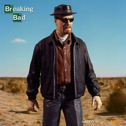 "BREAKING BAD HEISENBERG 12"" DELUXE ACTION FIGURE FROM MEZCO TOYZ"