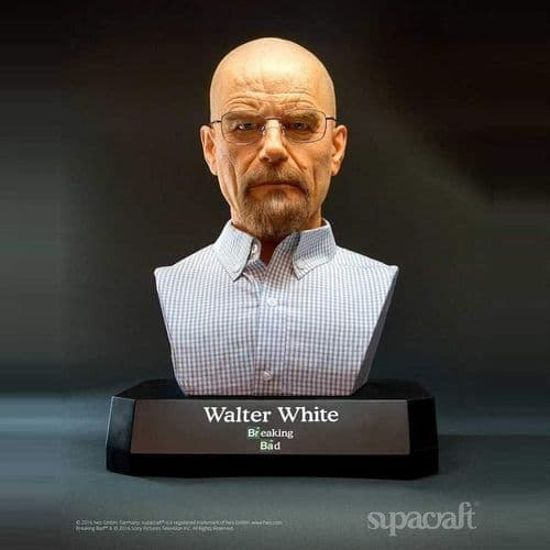 BREAKING BAD WALTER WHITE LIMITED EDITION LIFE-SIZE BUST BY SUPACRAFT