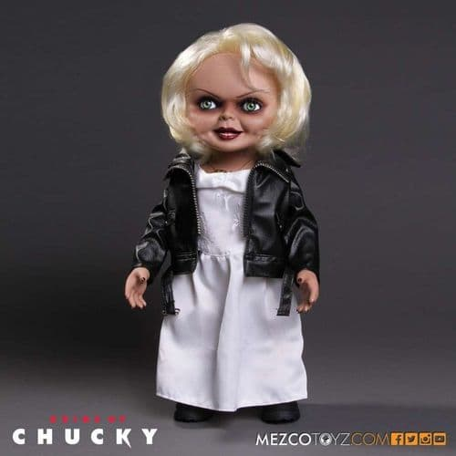 "BRIDE OF CHUCKY: 15"" MEGA SCALE TALKING TIFFANY FROM MEZCO TOYZ"