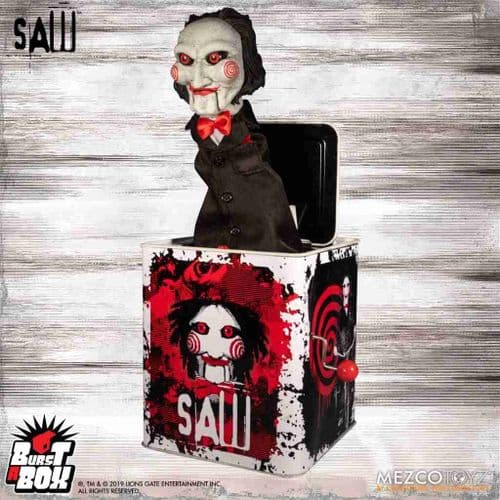 BURST-A-BOX SAW: BILLY THE PUPPET FROM MEZCO TOYZ