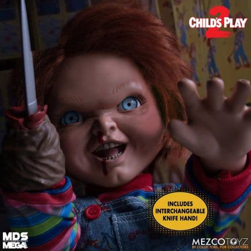 "CHILD'S PLAY 2 MENACING TALKING CHUCKY 15"" MDS MEGA SCALE FIGURE FROM MEZCO TOYZ"