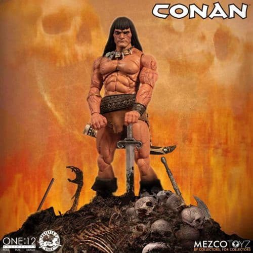 CONAN THE BARBARIAN ONE:12 COLLECTIVE ACTION FIGURE FROM MEZCO TOYZ