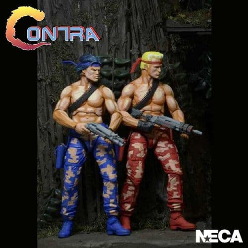 CONTRA BILL AND LANCE 2 PACK VIDEO GAME APPEARANCE ACTION FIGURES FROM NECA