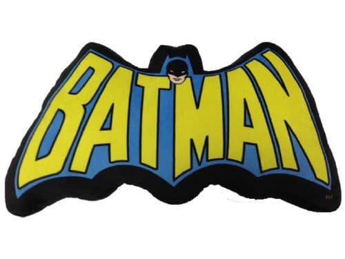 DC COMICS BATMAN CLASSIC SYMBOL SOFT CUSHION WITH TEXT FROM SD TOYS