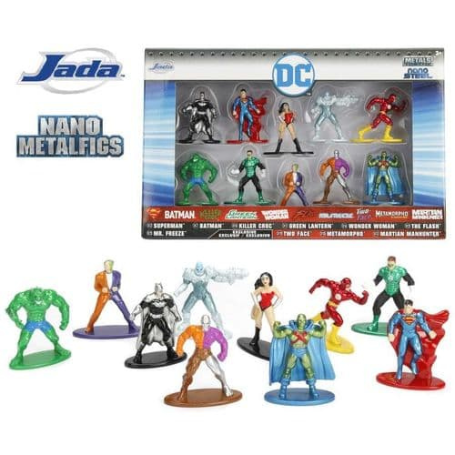 DC COMICS DIE CAST NANO METALFIGS 10 PACK FROM JADA TOYS