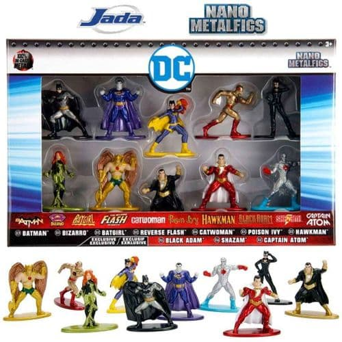 DC COMICS NANO METALFIGS 10 PACK SERIES 3 FROM JADA TOYS