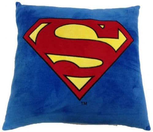 DC COMICS SUPERMAN SOFT SQUARE CUSHION WITH SYMBOL FROM SD TOYS