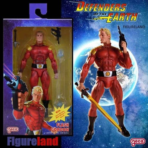 "DEFENDERS OF THE EARTH FLASH GORDON 7"" SCALE ACTION FIGURE FROM NECA"